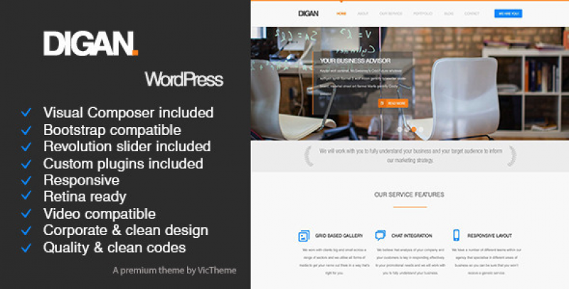 Digan Multipurpose WordPress Business Theme