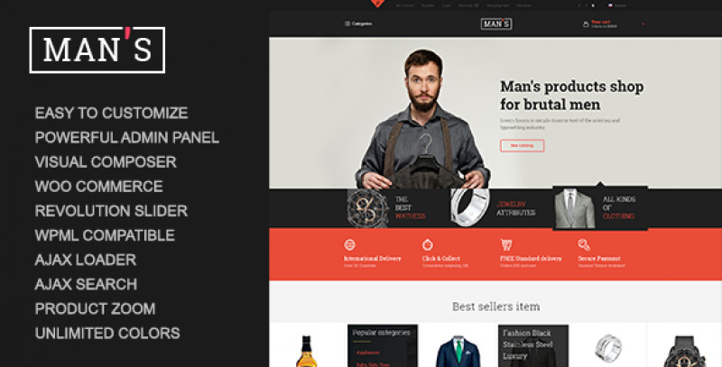 MAN'S - eCommerce Business WordPress Theme